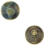 Happy Earth Day Geocoin - Antique Bronze